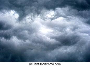cloudscape, драматичный, задний план