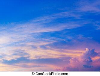 cloudscape, закат солнца