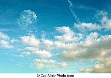 cloudscape, луна