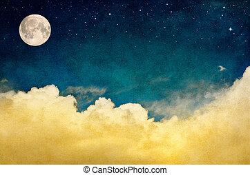 cloudscape, полный, луна