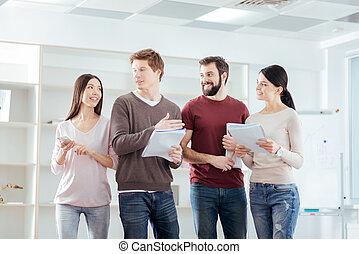 colleagues, 4, план, над, замечательно, talking