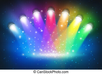 colours, радуга, spotlights