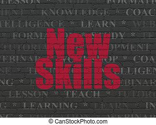 concept:, learning, новый, задний план, стена, навыки