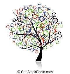 connecting, peoples, дерево, web