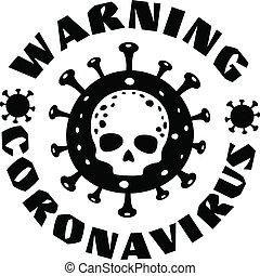 coronavirus, череп