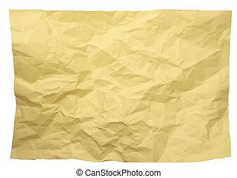 crumpled, бумага