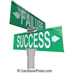 deciding, хорошо, успех, pointing, являющийся, two-way, судьба, знак, symbolizing, плохо, улица, зеленый, недостаточность, между, перепутье, или, исход
