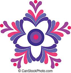 desigh, красочный, ретро, цветочный, вектор
