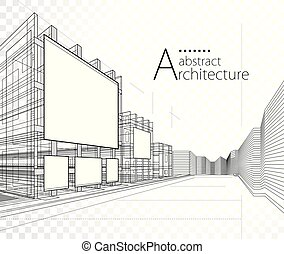 design., иллюстрация, архитектура, здание, 3d, строительство