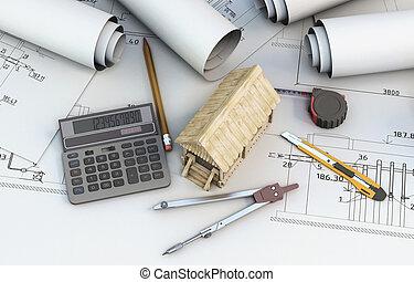 designer, калькулятор, деревянный, дом, инструменты, projects