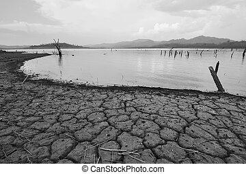disaster., климат, натуральный, засушливый