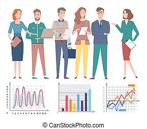 discussing, люди, проект, информация, бизнес, stats