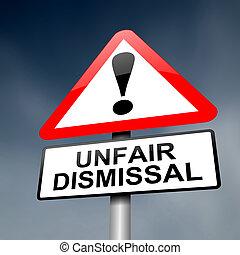 dismissal, concept., недобросовестный