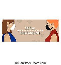 distancing, плакат, социальное