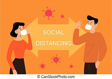 distancing, социальное, люди