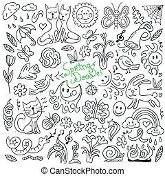 doodles, весна, -