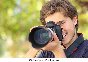 dslr, цифровой, камера, фотограф, photographing, learning