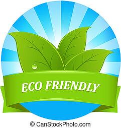 eco, дружелюбный, метка