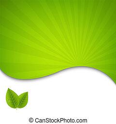eco, плакат, leaves, зеленый