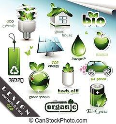 eco, elements, icons, дизайн