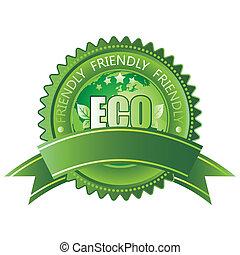 eco-friendly, значок