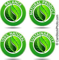 eco, icons, 1, задавать, зеленый