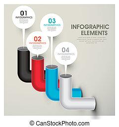 elements, бар, абстрактные, диаграмма, infographic, pipes