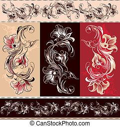 elements, декоративный, орнамент, цветочный