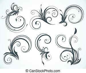 elements, декоративный, цветочный