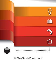 elements, задавать, вектор, infographics