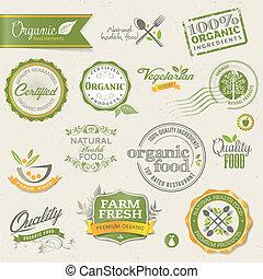 elements, питание, органический, labels
