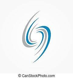 elements, спираль, логотип, swirls, дизайн