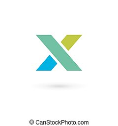 elements, шаблон, икс, логотип, значок, письмо, дизайн