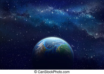 exoplanet, глубоко, пространство
