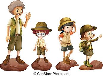 explorers, семья