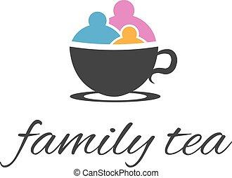 family., абстрактные, вектор, иллюстрация