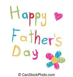 father's, день, счастливый