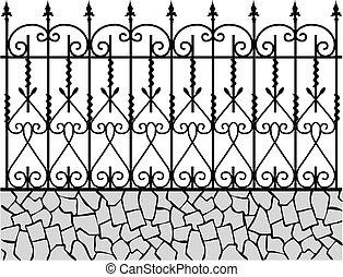 fence-1, кованое, железо