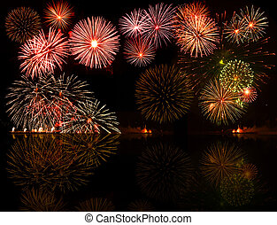 fireworks., задавать, e.g.2012, красочный, текст, объект, центр, ваш, хорошо, чисел, год, или