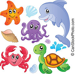 fishes, 3, animals, море, коллекция