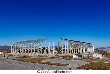 footbal, новый, сайт, стадион, строительство