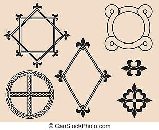 frames, декоративный, elements