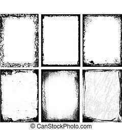 frames, textured
