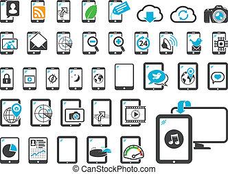 gadgets, современное, icons