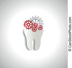 gears., concept., teeth, лечение, зуб