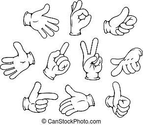 gestures, задавать, мультфильм, рука