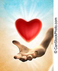 giving, сердце