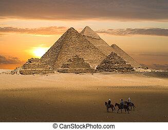 gizeh, фантазия, pyramids