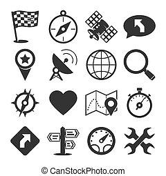 gps, задавать, навигация, icons