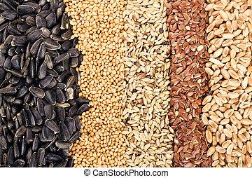 grains, пшеница, подсолнечник, лен, рожь, ячмень, seeds, зерновой, овсяной, :